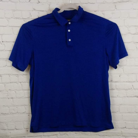 Nordstrom Striped Collared Golf Polo Short XL